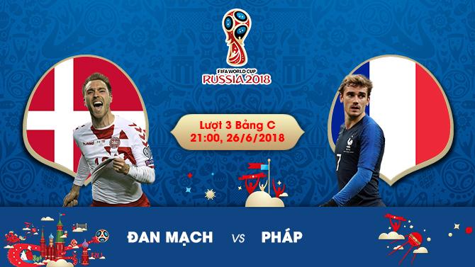 Soi kèo – Nhận định World Cup 2018: Đan Mạch vs Pháp, 21:00 Ngày 26/6, Bảng C