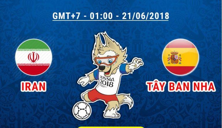 Soi kèo World Cup Iran vs Tây Ban Nha,1h00 ngày 21/06 ở Bảng B