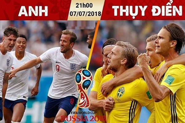 Soi kèo – Nhận định: Anh vs Thụy Điển, 21:00 Ngày 07/07, Tứ kết 3 World Cup 2018
