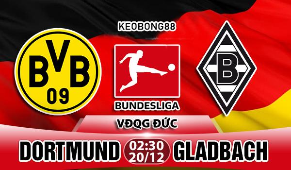 Nhận định Dortmund vs M'gladbach, 02h30 ngày 22/12: VĐQG Đức