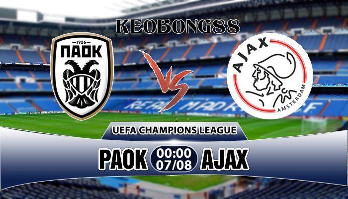 Nhận định PAOK vs Ajax, 00h00 ngày 07/08: Champions League