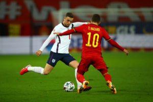 Henderson bị đau trong trận thua Bỉ 0-2